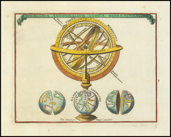 5-World, Curiosities and Celestial Maps Map By Adam Friedrich Zurner / Johann Christoph Weigel
