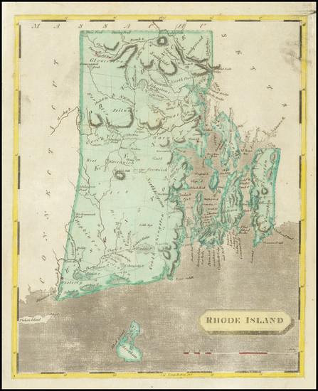 30-Rhode Island Map By Aaron Arrowsmith  &  Samuel Lewis