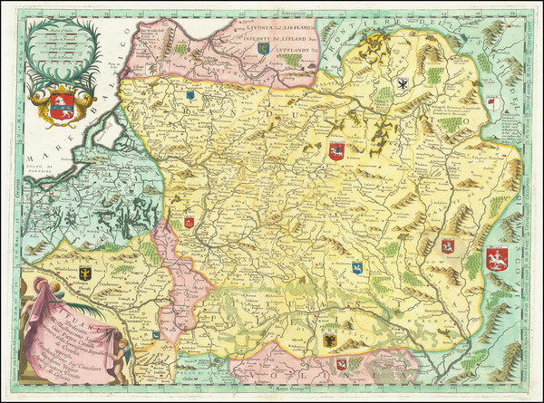 67-Baltic Countries Map By Vincenzo Maria Coronelli