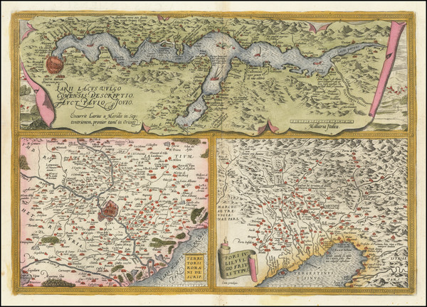 47-Northern Italy Map By Abraham Ortelius