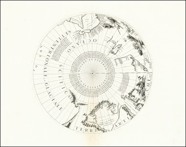 78-Polar Maps, Russia, Scandinavia and Canada Map By Vincenzo Maria Coronelli
