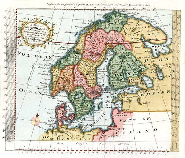 40-Europe and Scandinavia Map By Emanuel Bowen