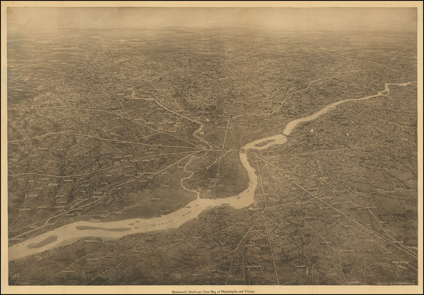 5-Philadelphia Map By Hammond & Co.