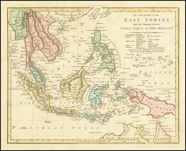94-Philippines, Indonesia, Malaysia and Thailand, Cambodia, Vietnam Map By Robert Wilkinson