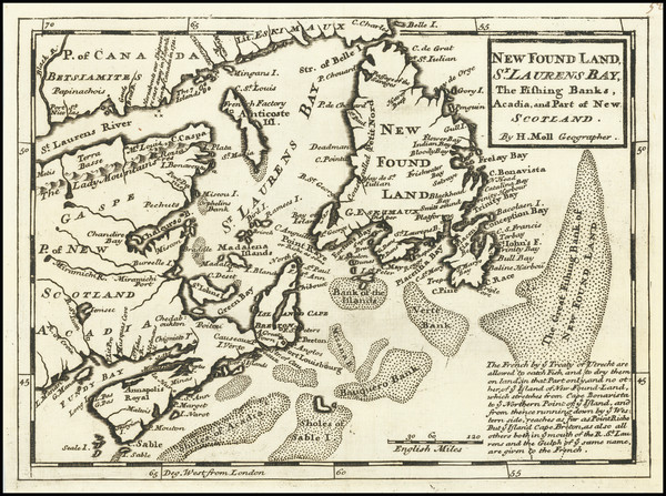 7-Eastern Canada Map By Herman Moll