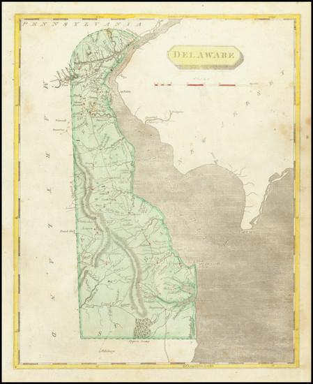 8-Delaware Map By Aaron Arrowsmith  &  Lewis
