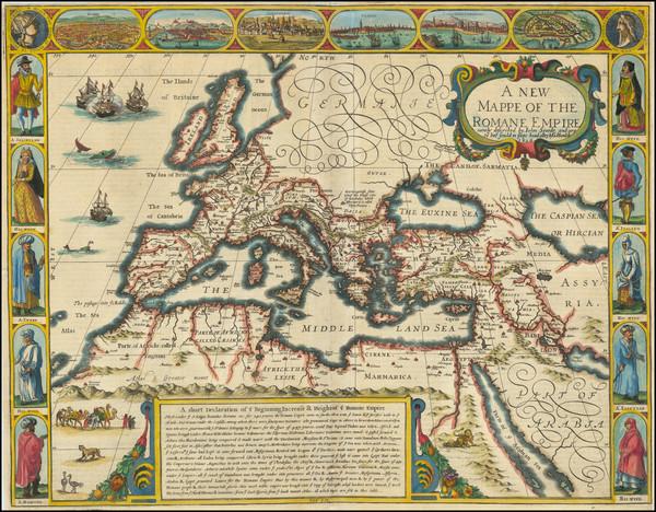 55-Europe, Italy, Turkey, Mediterranean and Turkey & Asia Minor Map By John Speed