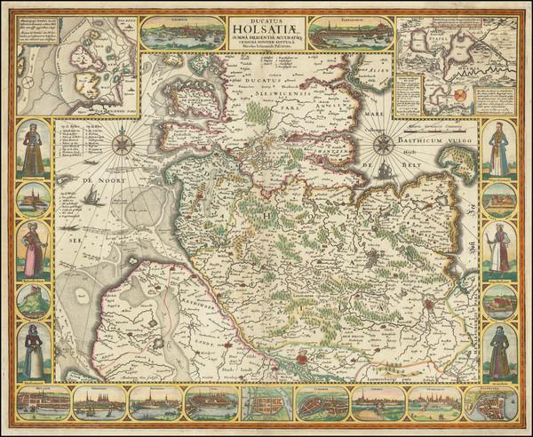 89-Norddeutschland Map By Claes Janszoon Visscher
