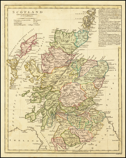 76-Scotland Map By Robert Wilkinson