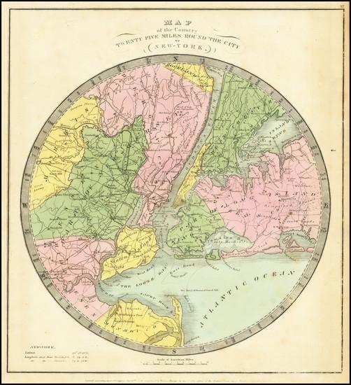 91-New York City Map By David Hugh Burr
