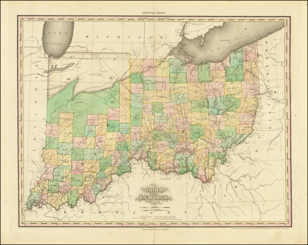 5-Midwest, Indiana and Ohio Map By Henry Schenk Tanner