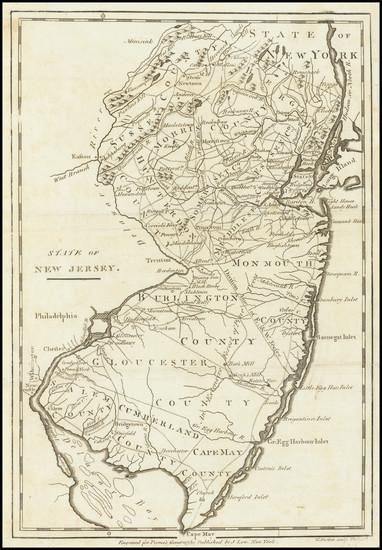 80-New Jersey Map By John Payne