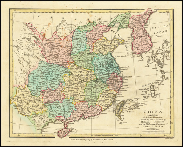 91-China and Korea Map By Robert Wilkinson