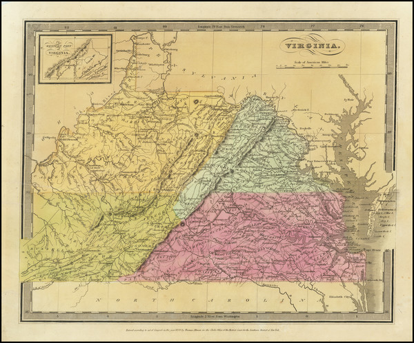 94-West Virginia and Virginia Map By David Hugh Burr