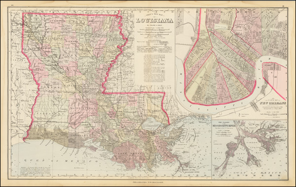 43-Louisiana Map By O.W. Gray