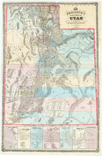 85-Utah and Utah Map By B.A.M. Froiseth