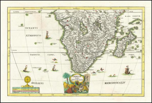 57-South Africa Map By Heinrich Scherer