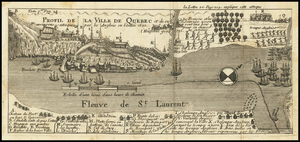 65-Eastern Canada Map By Baron de Lahontan