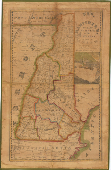 87-New Hampshire Map By Edward Ruggles