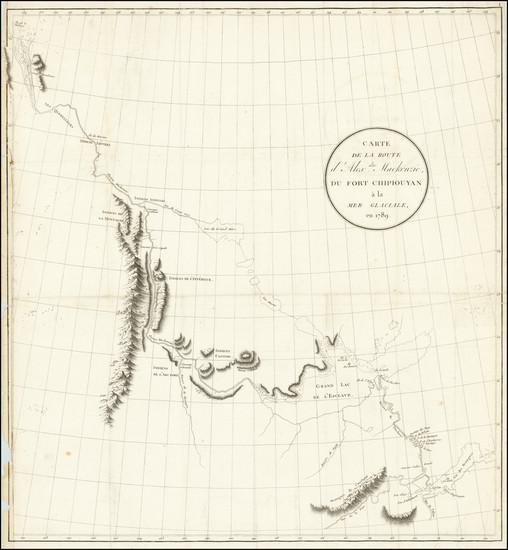 96-Western Canada Map By Alexander MacKenzie