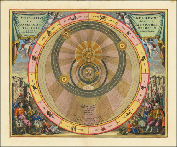 30-Celestial Maps Map By Andreas Cellarius