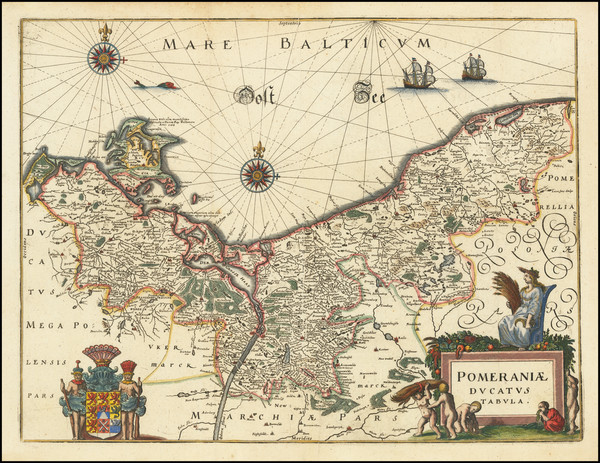 4-Poland and Baltic Countries Map By Matthaus Merian