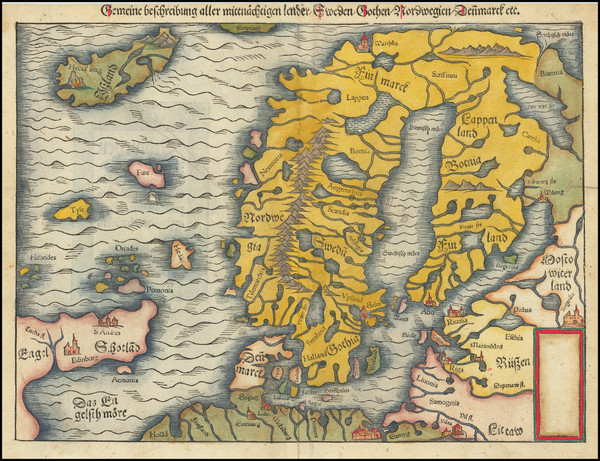91-Baltic Countries, Scandinavia and Iceland Map By Sebastian Munster
