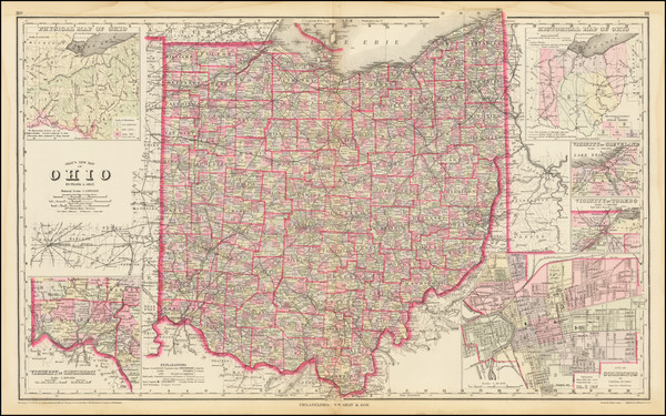 76-Ohio Map By O.W. Gray