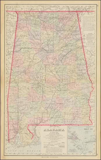 55-Alabama Map By O.W. Gray
