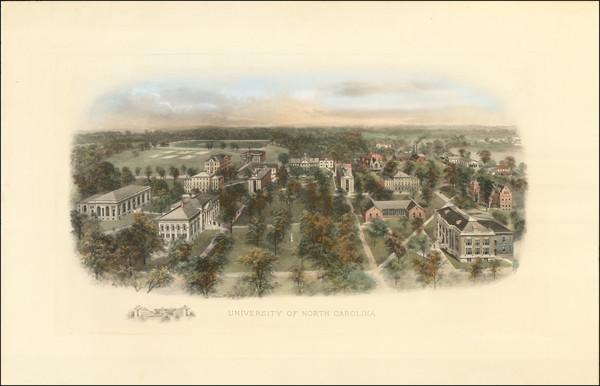 59-North Carolina Map By Richard Rummell / Littig & Company