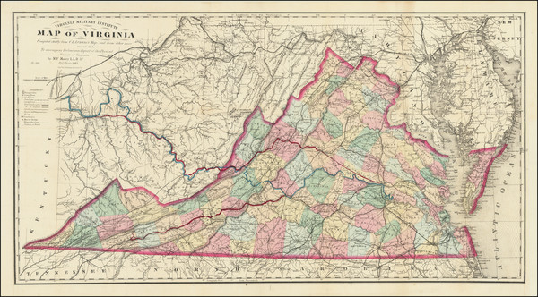 22-West Virginia and Virginia Map By Matthew Fontaine Maury - Charles L. Ludwig
