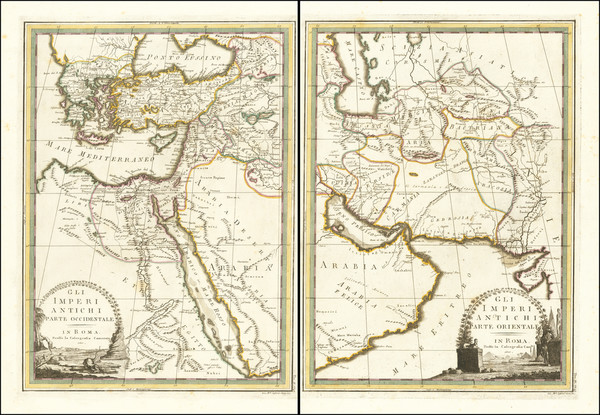 47-Middle East, Arabian Peninsula, Persia and Turkey & Asia Minor Map By Giovanni Maria Cassin