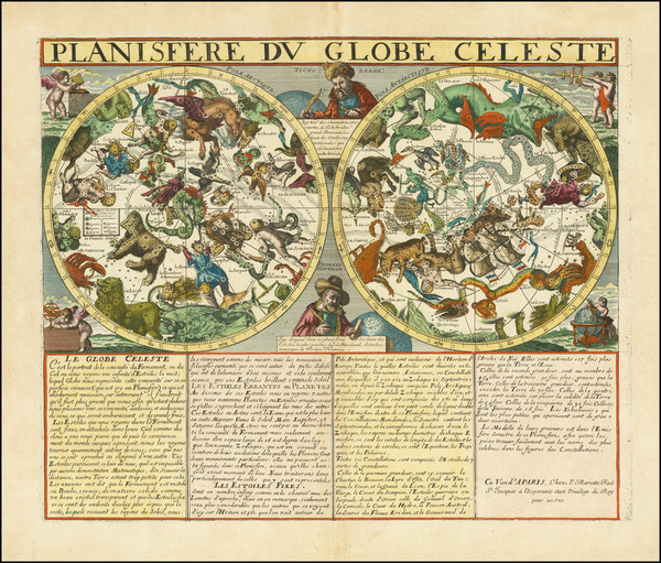10-Celestial Maps Map By Pierre Mariette