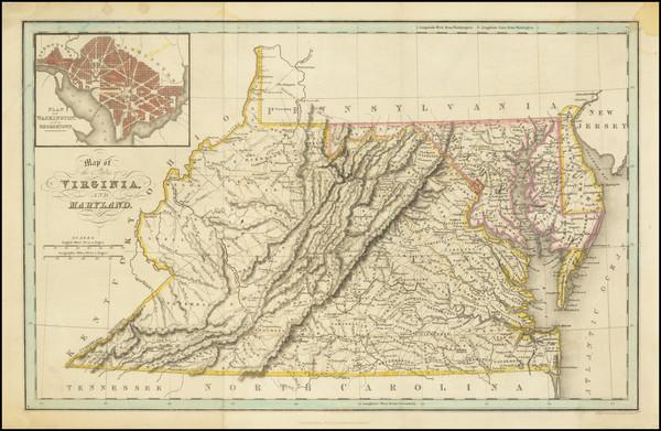 55-Washington, D.C., Maryland and Virginia Map By Hinton, Simpkin & Marshall