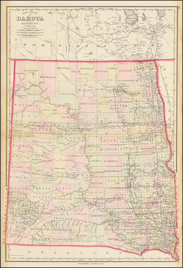 80-North Dakota and South Dakota Map By O.W. Gray