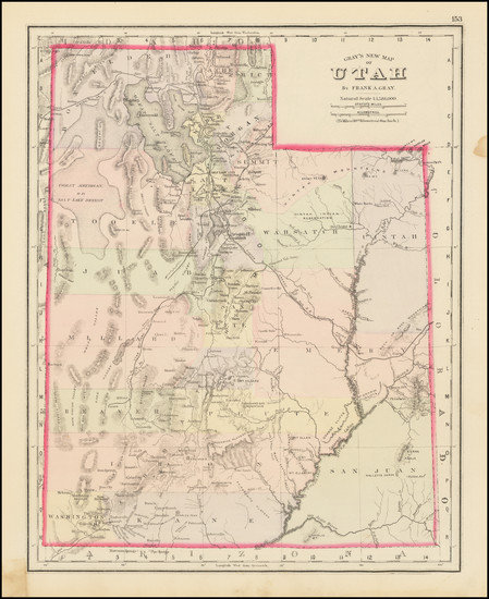 86-Utah and Utah Map By O.W. Gray