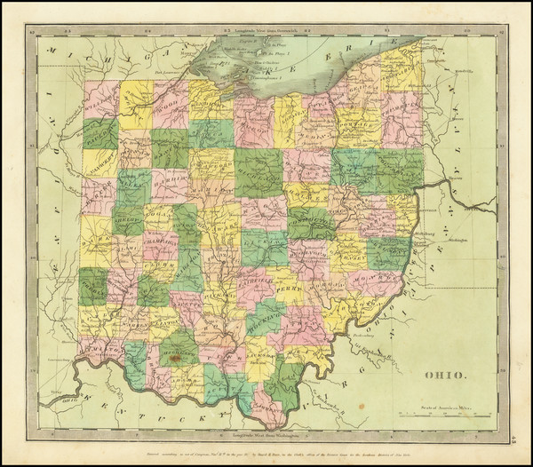 90-Ohio Map By David Hugh Burr