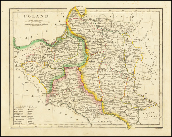 77-Poland and Balkans Map By Robert Wilkinson