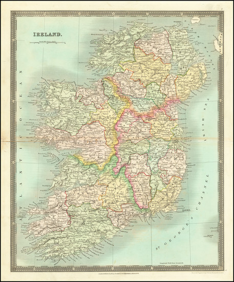 67-Ireland Map By Henry Teesdale