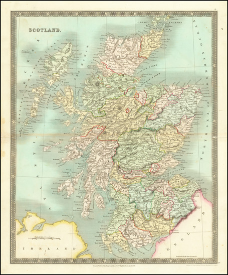 84-Scotland Map By Henry Teesdale