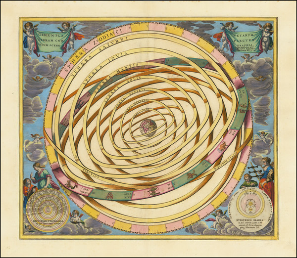 11-Celestial Maps Map By Andreas Cellarius