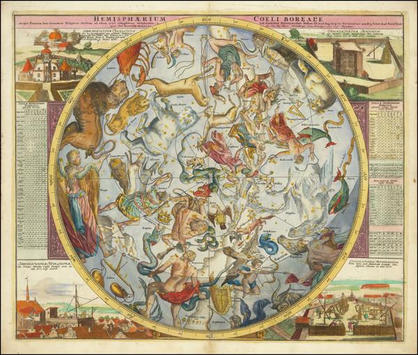 16-Celestial Maps Map By Johann Gabriele Doppelmayr