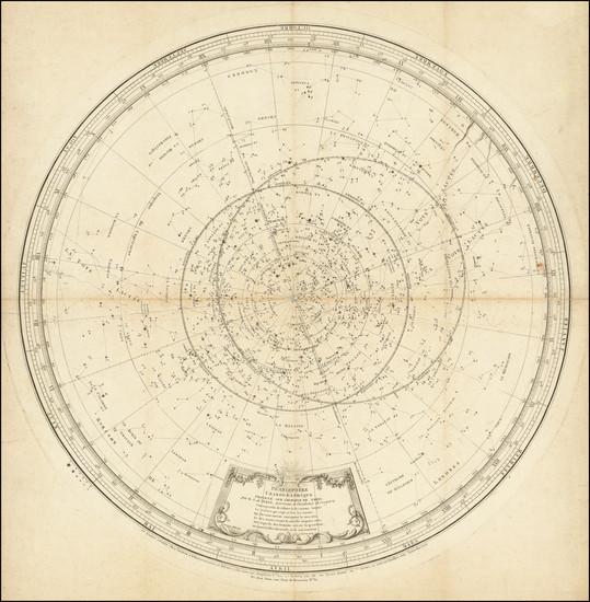 44-Celestial Maps Map By Jean Perny de Villeneuve