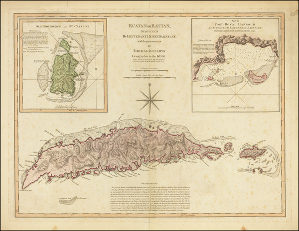 5-Other Islands, Central America and Colombia Map By Thomas Jefferys