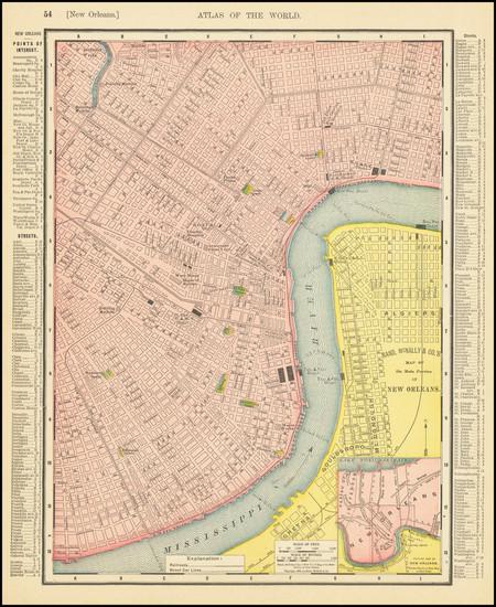 53-Louisiana Map By Rand McNally & Company