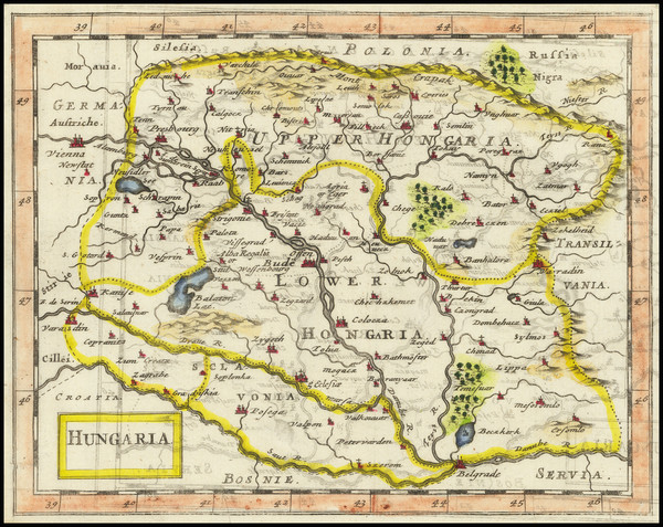 61-Hungary Map By Anonymous