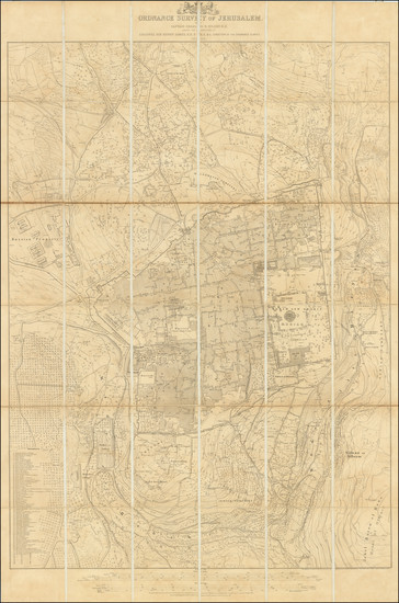 16-Holy Land and Jerusalem Map By Ordinance Survey Office