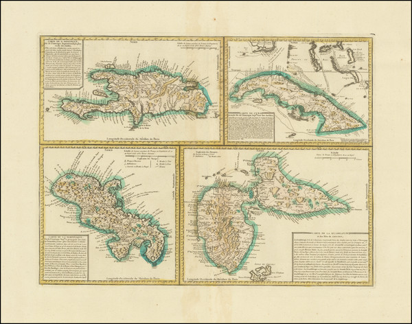 99-Cuba, Hispaniola and Other Islands Map By Anonymous