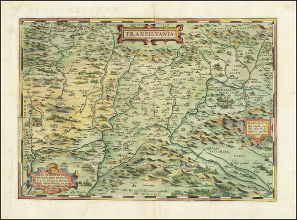 40-Romania and Balkans Map By Abraham Ortelius