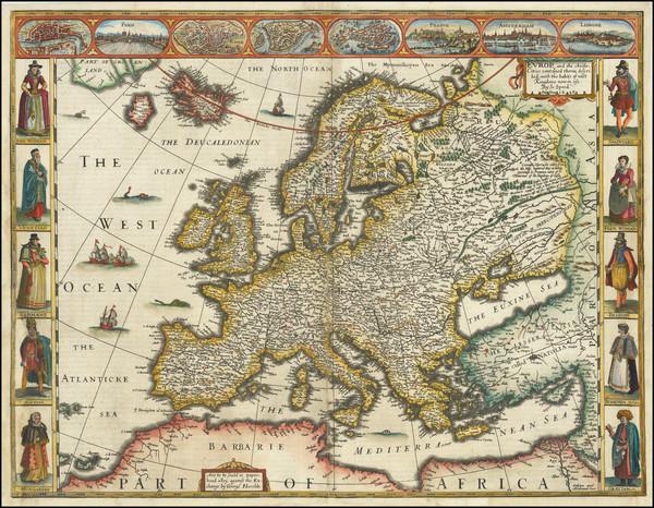 85-Europe Map By John Speed